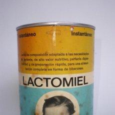 Cajas y cajitas metálicas: BOTE LECHE*LACTOMIEL*400 GR.-MOD.2- CON ETIQUETA, MIEL, CREMA DE ARROZ Y VITAMINAS, DE FAES, AÑOS 70. Lote 31687775