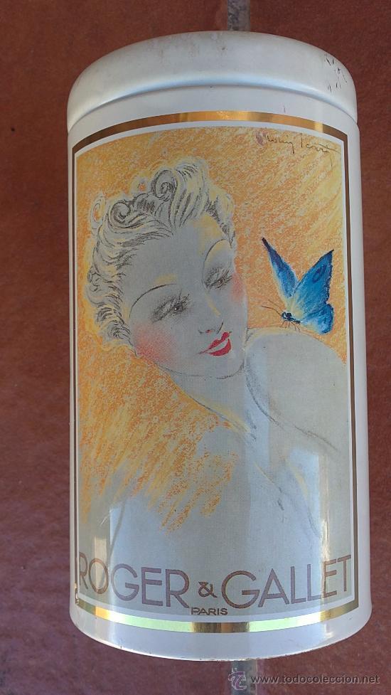 &-ELEGANTE BOTE DE JABON-ROGER&GALLET(PARIS)-16X9 CTM. (Coleccionismo - Cajas y Cajitas Metálicas)