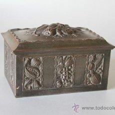 Cajas y cajitas metálicas: CAJITA METÁLICA REPUJADA. Lote 31875883