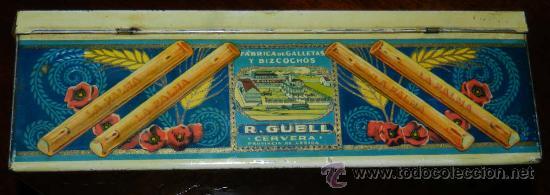 Cajas y cajitas metálicas: ANTIGUA CAJA DE HOJALATA LITOGRAFIADA CON PUBLICIDAD FABRICADA POR G. DE ANDREIS DE BADALONA . FABRI - Foto 2 - 31775338