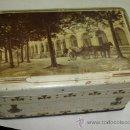Cajas y cajitas metálicas: CONFITERIA FRANCISCO TRIAS. SANTA COLOMA DE FARNÉS. VISTA DEL BALNEARIO MARTÍ. 10 X 15 X 8 CM. . Lote 31849903