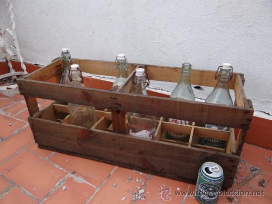 antigua caja de madera para gaseosas de litro caja vacia cajas y
