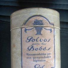 Cajas y cajitas metálicas: ESCASO Y ANTIGUO BOTE CARTON, POLVOS PARA BEBES, CASA GAL MADRID, SELLO RECARGO. PRINCIPIO SIGLO XX. Lote 32073605