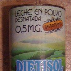 Cajas y cajitas metálicas: LATA LECHE EN POLVO DIETISOL. LECHE EN POLVO DESNATADA. 0.5 MG, INSTANTÁNEA.. Lote 32319498
