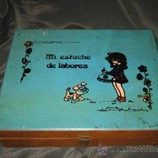 Cajas y cajitas metálicas: MI ESTUCHE DE LABORES . Lote 32319672