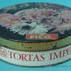 Cajas y cajitas metálicas: CAJA METÁLICA CON IMAGEN FLORAL. Lote 32332438