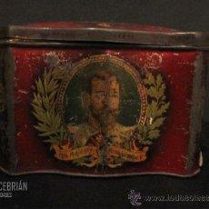 Cajas y cajitas metálicas: ESPECIAL CAJA DE HOJALATA PINTADA DEL SIGLO XIX. Lote 32581027