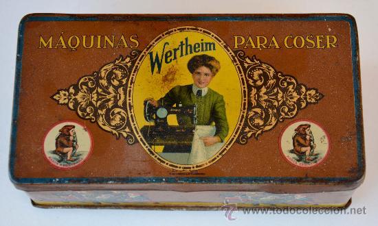CAJA METALICA MAQUINAS DE COSER WERTHEIM (Coleccionismo - Cajas y Cajitas Metálicas)