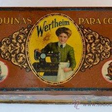 Cajas y cajitas metálicas: CAJA METALICA MAQUINAS DE COSER WERTHEIM. Lote 32647735