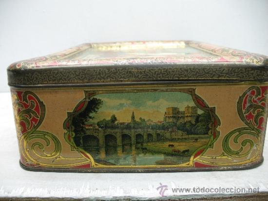 Cajas y cajitas metálicas: Antiquísima caja metálica 1909 - La perla del Turia, Valencia, elaboración de arroces abrillantados - Foto 3 - 32655102