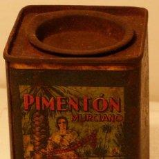 Cajas y cajitas metálicas: PIMENTON MURCIANO BOTE METALGRAFIADO. Lote 32661554