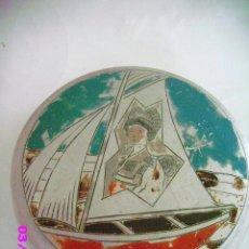 Cajas y cajitas metálicas: BARCO VELERO CAJITA ALUMINIO. Lote 32742385