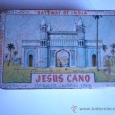 Cajas y cajitas metálicas: CAJA HOJALATA AZAFRAN JESUS CANO 13X8 CM.. Lote 33109285
