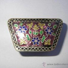 Cajas y cajitas metálicas: PASTILLERO, CAJITA DE PLATA 925 CON ESMALTES. Lote 33435739