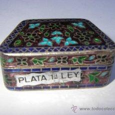 Cajas y cajitas metálicas: PASTILLERO, CAJITA DE PLATA 925 CON ESMALTES. Lote 33435799
