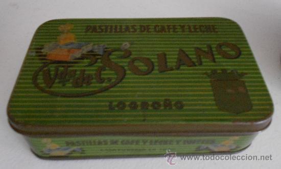 'VDA. DE SOLANO' -PASTILLAS DE CAFÉ CON LECHE- CAJA METÁLICA (Coleccionismo - Cajas y Cajitas Metálicas)