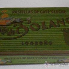 Cajas y cajitas metálicas - 'VDA. DE SOLANO' -Pastillas de Café con leche- Caja metálica - 33480749