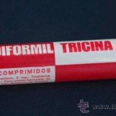 Cajas y cajitas metálicas: DIFORMIL TRICINA - TUBO MEDICAMENTOS - PRODUCTOS FARMACEUTICOS FAES - VACÍO. Lote 33481549