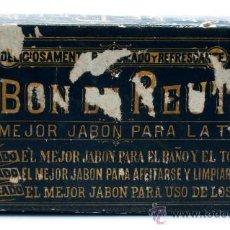 Cajas y cajitas metálicas: CAJA CARTÓN JABÓN CURATIVO DE REUTER CAJA 3 JABONES AÑOS 20. Lote 33498044