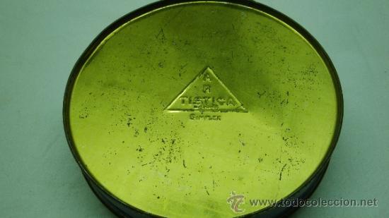 Cajas y cajitas metálicas: caja de hojalata redonda de caramelos con escena mujer negra años 60's - Foto 2 - 33928519