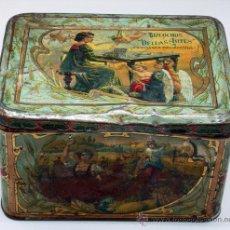 Cajas y cajitas metálicas: CAJA LATA BIZCOCHOS BELLAS ARTES RAMÓN CABANELLAS HIJOS INDUSTRIA ARGENTINA BUENOS AIRES. Lote 33818832