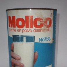 Cajas y cajitas metálicas: BOTE-LATA LECHE *MOLICO* LECHE EN POLVO DESNATADA, 600 GR. NESTLÉ, CONSUMIR ANTES DEL 83. Lote 33946601