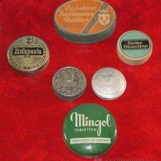 Cajas y cajitas metálicas: LOTE DE SEIS CAJAS DE CHAPA. ALEMANIA 1930 - 1950.. Lote 33981516
