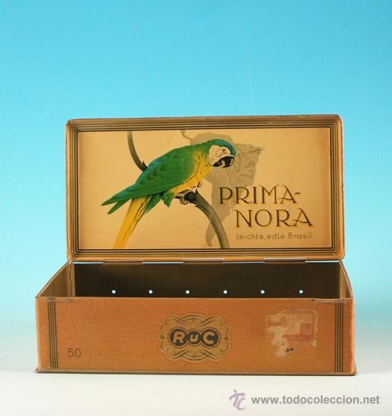 Cajas y cajitas metálicas: Caja de chapa Prima Nora. Alemania 1930 - 1935. - Foto 2 - 33981675