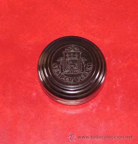 CAJA DE BAQUELITA DE SEMPER VERUM. ALEMANIA 1910 - 1930. (Cajas y Envases - Cajas y Cajitas Metálicas)