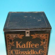 Cajas y cajitas metálicas: CAJA DE CHAPA DE CAFÉ. MODERNISTA. ALEMANIA 1900 - 1920.. Lote 33982191