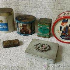 Cajas y cajitas metálicas: LOTE DE 6 CAJAS METÁLICAS ANTIGUAS. Lote 33991472