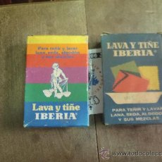 Cajas y cajitas metálicas: TINTES ANTIGÜOS PARA ROPA IBERIA.. Lote 34191665