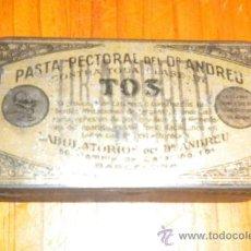 Cajas y cajitas metálicas: PASTA PECTORAL CONTRA LA TOS CAJITA METAL. Lote 34194771