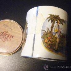 Cajas y cajitas metálicas: FARIAS BOTE METAL MOTIVO COLONIAL. Lote 34194964