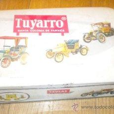 Cajas y cajitas metálicas: TUYARRO TEULAS SANTA COLOMA DE FARNES SUC FRANCISCO TRIAS CAJA METAL. Lote 34200510