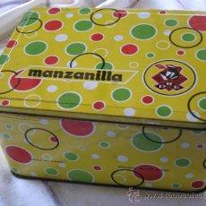 Cajas y cajitas metálicas: CAJA METALICA GRANDE - MANZANILLA.. Lote 34292987