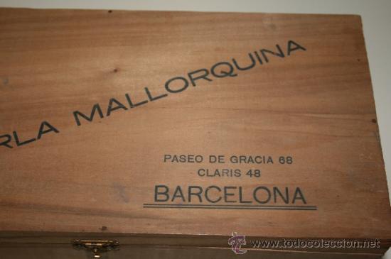 Preciosa caja de madera la perla comprar cajas antiguas y cajitas met licas en - Cajas de madera barcelona ...