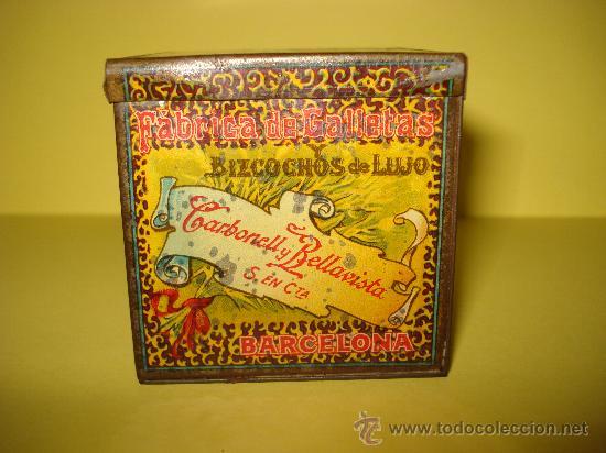 Cajas y cajitas metálicas: Antigua Caja en Hojalata Litografiada de *LA GLORIA* Bizcochos y Galletas Barcelona - Año 1920s. - Foto 3 - 34473933