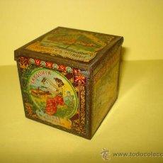 Cajas y cajitas metálicas: ANTIGUA CAJA EN HOJALATA LITOGRAFIADA DE *LA GLORIA* BIZCOCHOS Y GALLETAS BARCELONA - AÑO 1920S.. Lote 34473933