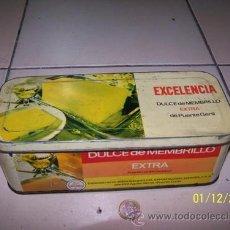 Cajas y cajitas metálicas: CAJA DULCE DE MEBRILLO ANTIGUA. Lote 34636290