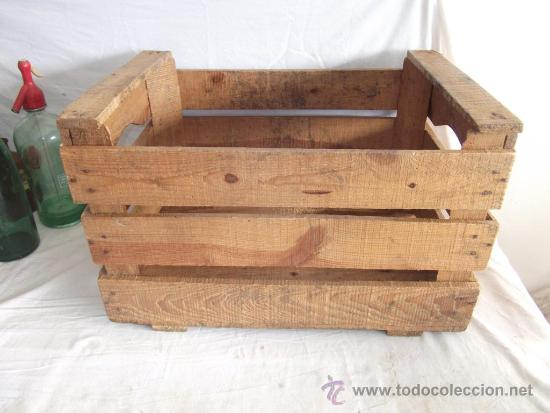 Caja original de madera de poner frutas o verdu comprar cajas antiguas y cajitas met licas en - Caja de frutas de madera ...