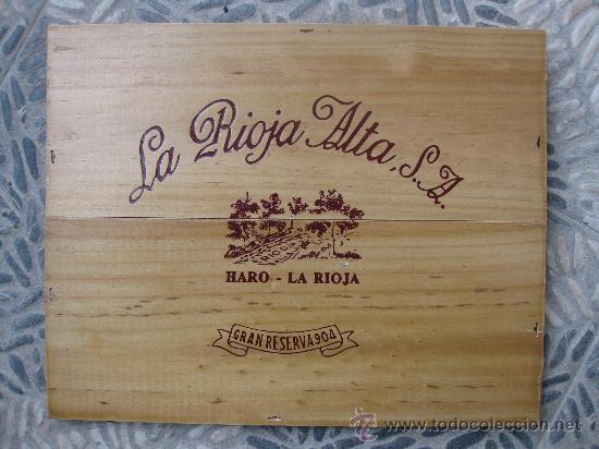 tabla de madera de caja de vino la rioja alta sa gran reserva decoracin de bar o bodega