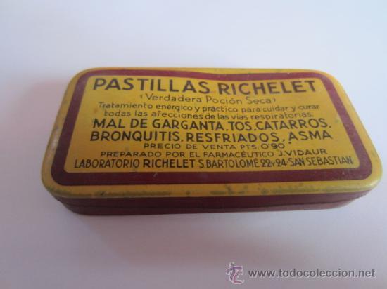 CAJITA METÁLICA - PASTILLAS RICHELET (Coleccionismo - Cajas y Cajitas Metálicas)