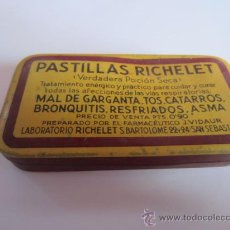 Cajas y cajitas metálicas: CAJITA METÁLICA - PASTILLAS RICHELET. Lote 38421284
