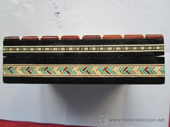 Cajas y cajitas metálicas: caja de marqueteria para cartas , baraja española , buena conservacion - Foto 3 - 35279734
