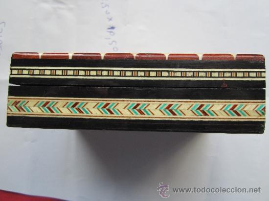 Cajas y cajitas metálicas: caja de marqueteria para cartas , baraja española , buena conservacion - Foto 5 - 35279734