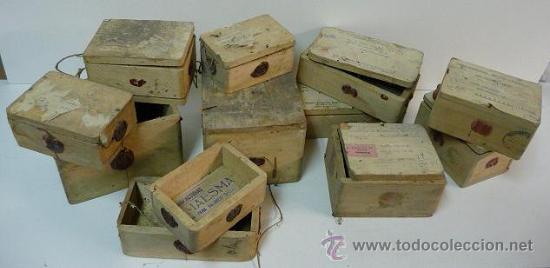 lote de antiguas cajas madera para envio de relojes aos cajas y