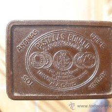 Cajas y cajitas metálicas: CAJITA DE BAQUELITA PASTILLAS BONALD. TOS , ANGINAS, GRIPE, AFONIA. Lote 35586606