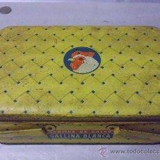 Cajas y cajitas metálicas: CAJA CHAPA LITOGRAFIADA - GALLINA BLANCA, CUBITOS DE CALDO. Lote 35856645