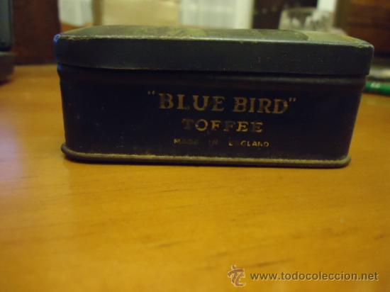 Cajas y cajitas metálicas: antigua CAJA METÁLICA INGLESA DE CARAMELOS BLUE BIRD TOFFEE 14 x 9 - Foto 4 - 35955452